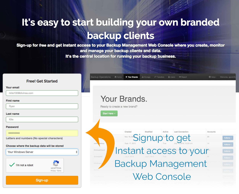 create a web console account
